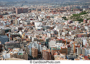Aerial view of Alicante, Spain