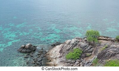 Aerial view of amazing Koh Kra island in Thailand - Aerial...