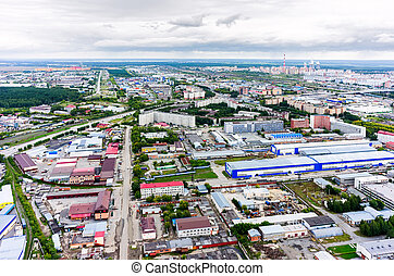 Aerial view of an Industrial Park area