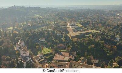 Aerial view of ancient Forte di Belvedere or Fortezza di...