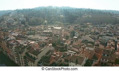 Aerial view of ancient Forte di Belvedere, Palazzo Pitti...