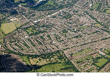 Aerial view of Anerley and Penge, South London