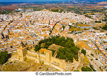 Aerial view of Antequera cityscape, Andalusia, Spain