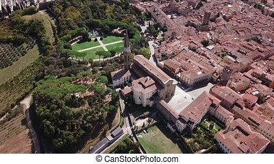 Aerial view of Arezzo Tuscany Italy - Drone video footage -...