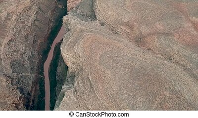 Aerial view of Arizona's Little Colorado River Gorge -...