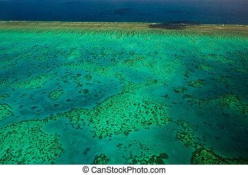 Aerial View of Arlington Reef great barrier Reef Australia