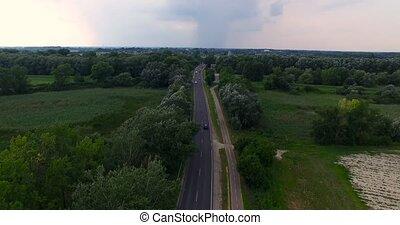 Aerial View of Asphalt Road