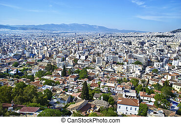 aerial view of Athens Greece