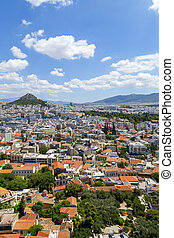 Aerial view of Athens, the capital of Greece. Athens has...