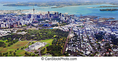 Aerial view of Auckland New Zealand - AUCKLAND - JAN 31...