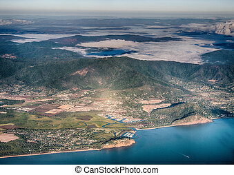 Aerial view of Australian Coast
