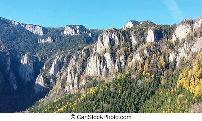 Aerial view of autumn rocky mountain - Autumn rocky mountain...