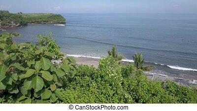 Aerial view of Balangan beach, Bali, Indonesia - Aerial view...
