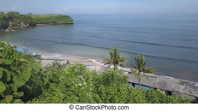 Aerial view of Balangan beach, Bali, Indonesia - Aerial view...
