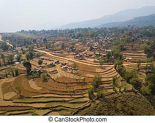 Aerial view of Balewa, Nepal