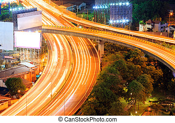 Bangkok Highway - aerial view of Bangkok Highway to Downtown...