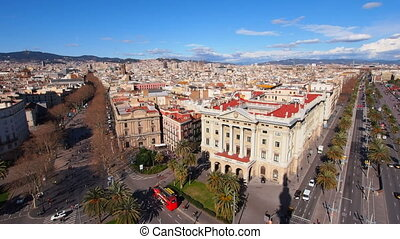 Aerial view of Barcelona, Catalonia, Spain
