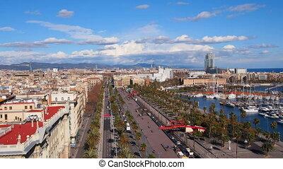 Barcelona - Aerial view of Barcelona, Catalonia, Spain