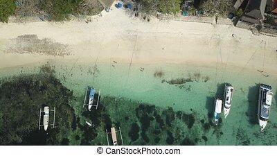 Aerial view of beach at Lembongan island