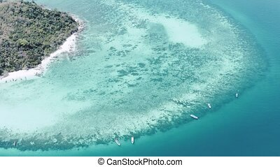 Aerial view of beautiful Bamboo Island in Thailand - Aerial...