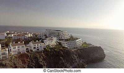 Aerial view of beautiful coastline