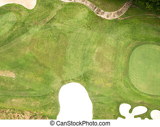 Aerial view of beautiful golf course