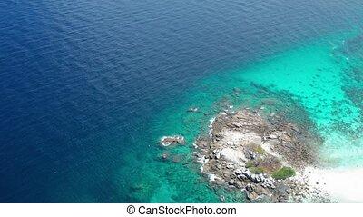 Aerial view of beautiful Koh Racha Yai island, Phuket -...