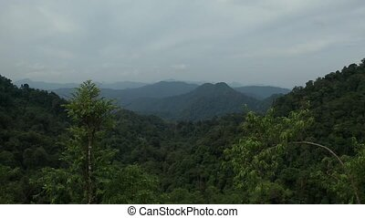 Aerial view of beautiful mountain landscape in Phangnga,...