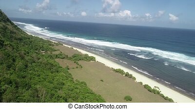 Aerial view of beautiful Nyang Nyang beach in Bali