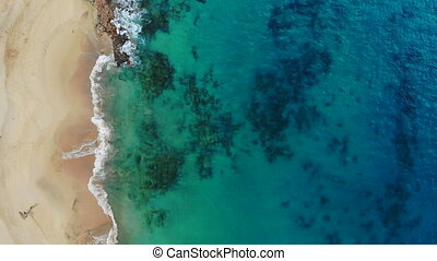 Aerial view of beautiful Papagayo Beach in Canary Islands
