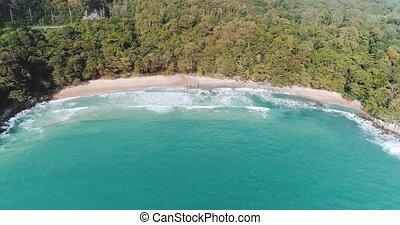 Aerial view of beautiful Surin beach in Phuket - Aerial...