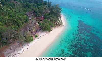 Aerial view of beautiful tropical paradise island in...