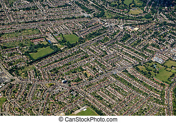 Aerial View of Beckenham, South London
