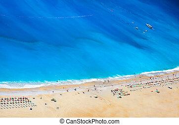 aerial view of Belcekiz beach in Oludeniz, Turkey