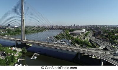 Belgrade marathon - Aerial view of Belgrade marathon