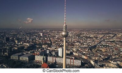 Aerial view of Berlin centre cityscape as seen from...