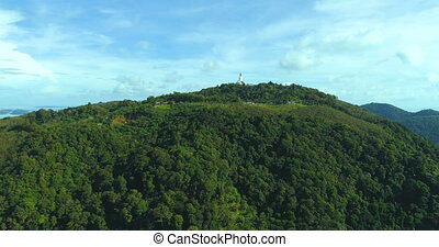 Aerial view of Big Buddha statue in Phuket - Aerial view of...