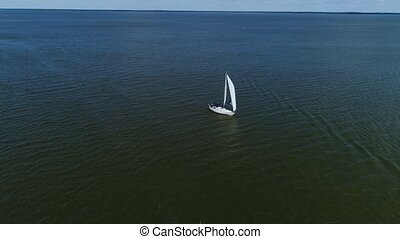 aerial view of boat at the sea shore