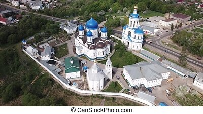 Aerial view of Bogolyubsky monastery at city vladimir. ...