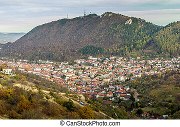 Aerial view of Brasov, Romania