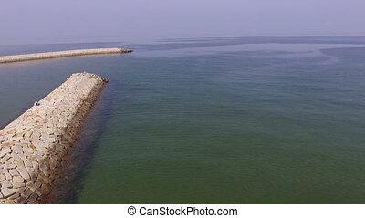 breakwater of stone