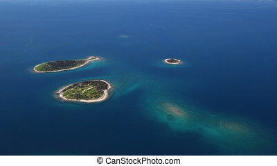 Aerial view of Brijuni islands, Croatia
