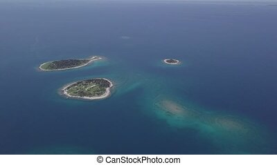 Aerial view of Brijuni islands, Croatia. Untouched LOG format