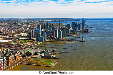 Aerial view of Brooklyn most populous borough of New York ...