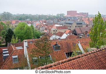 Aerial view of Brugge