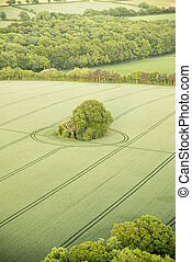 Aerial view of Buckinghamshire Landscape