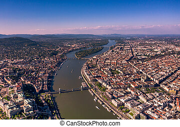 Aerial view of Budapest, Hungary. - Beautiful view of the ...