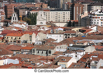 Burgos - Aerial view of Burgos, Spain. Contemporary and old ...