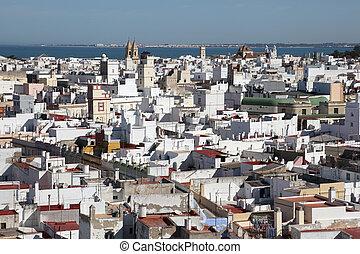 Aerial view of Cadiz, Andalusia Spain