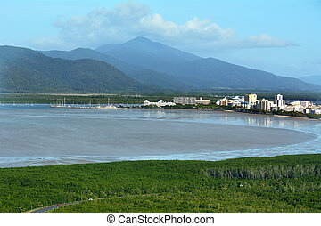 Aerial view of Cairns Queensland Australia - Aerial view of...